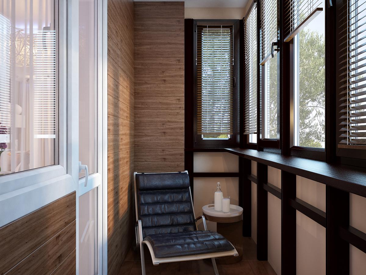 Деревянная столешница балкон. - дизайн маленьких лоджий - ка.