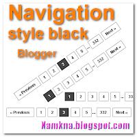 Phân trang Navigation màu đen cho blogger