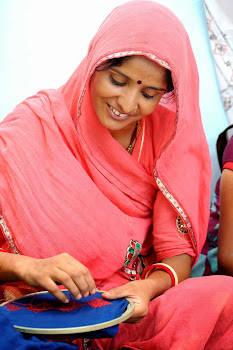 A rural woman at her small enterprise