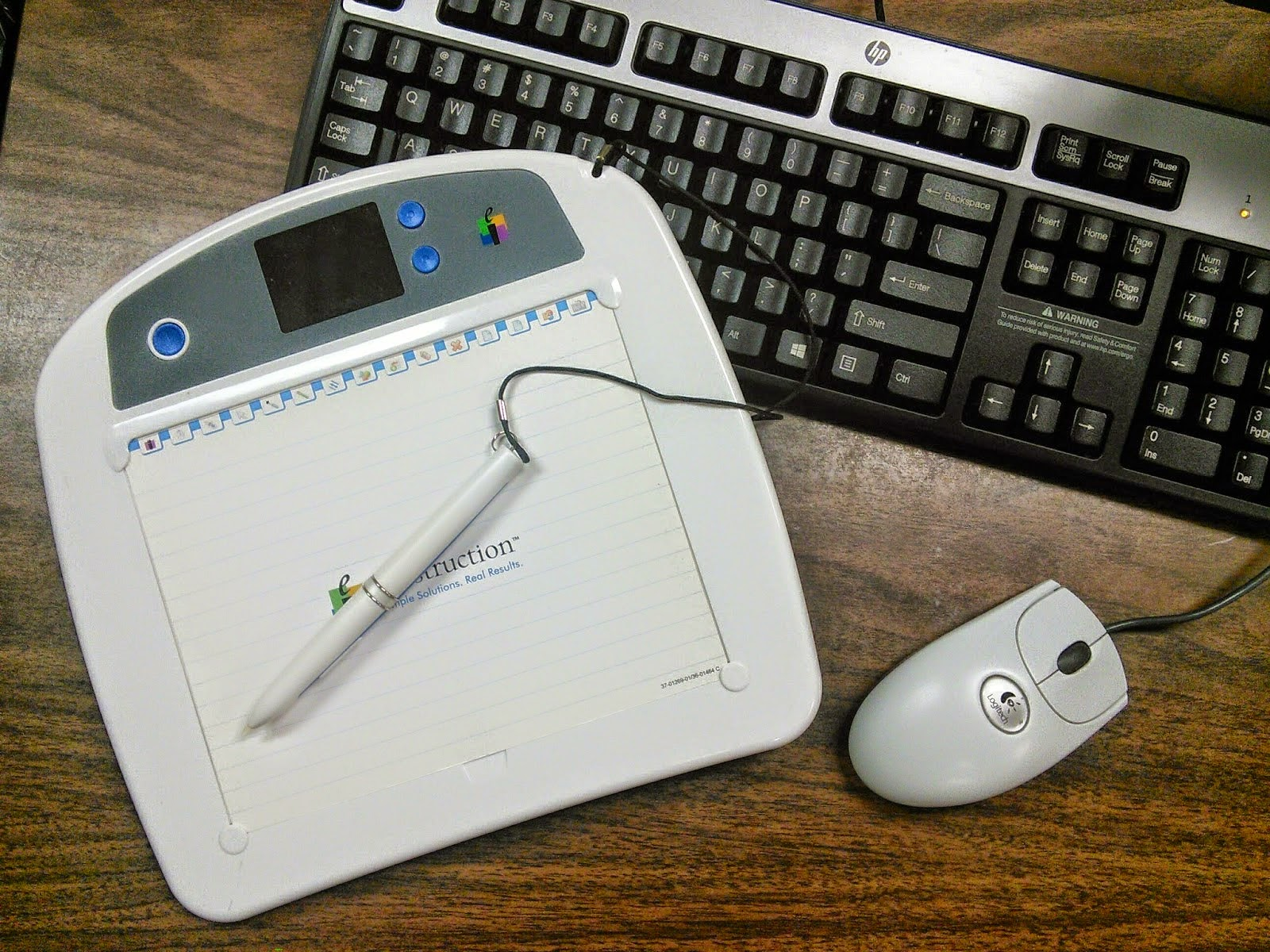 image of a Mobi, mouse and keyboard