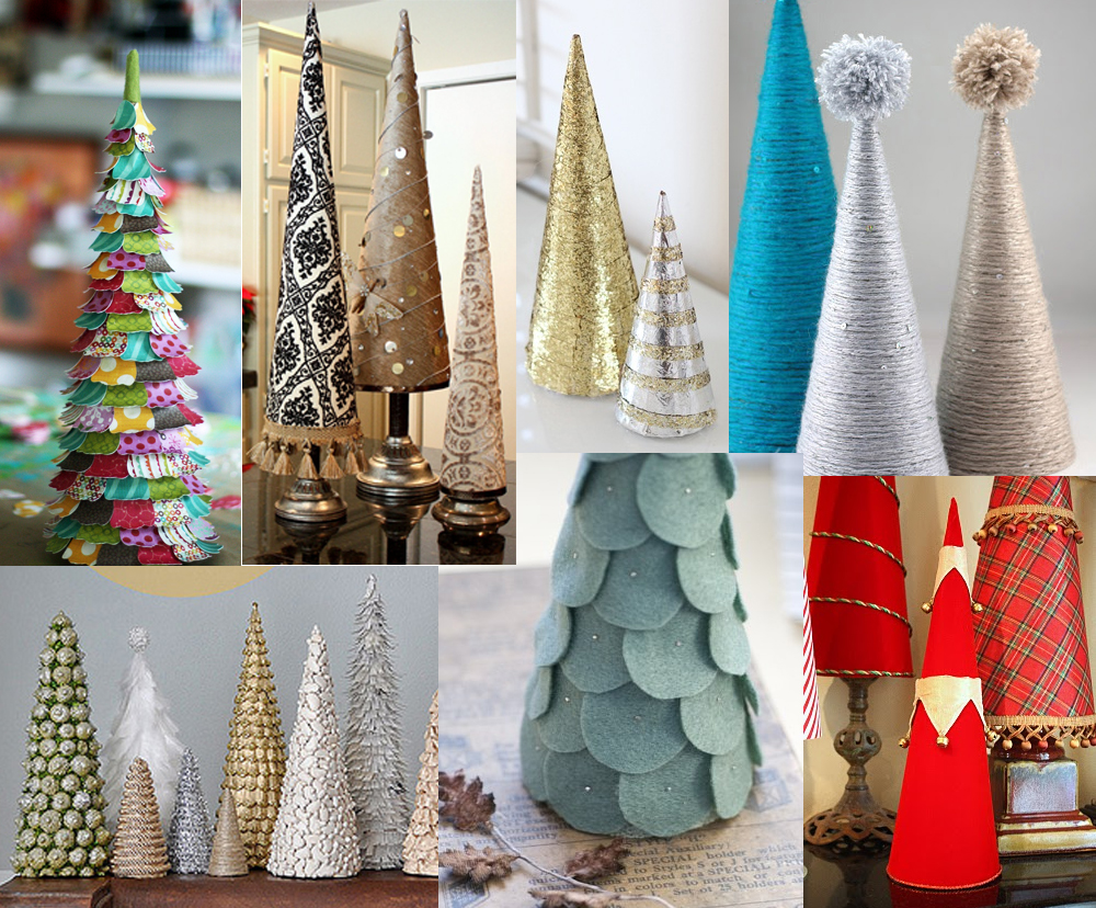 The How-To Gal: December Pinterest Party: DIY Mini Christmas Trees