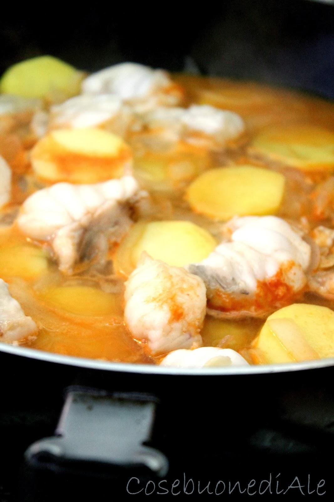 CosebuonediAle: rana pescatrice in umido con patate