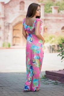 Rochii lungi de vară: imprimeuri florale