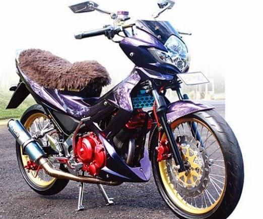 Modifikasi Suzuki Satria F150 Wedus Gimbal