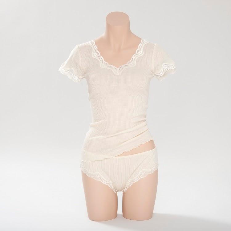 Wolle-Seide T-Shirt Boracay champagner-weiß von Gattina