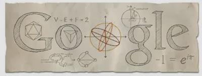 Doodle dedicado al matemático Leonhard Euler