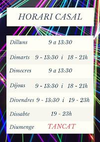 Horari del curs 2019-2020