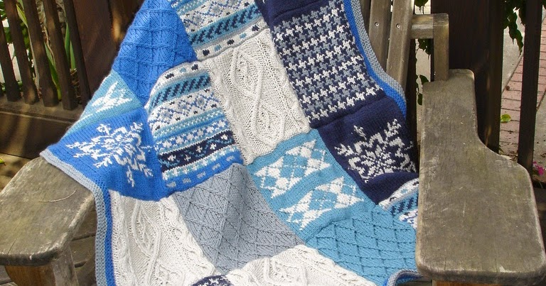Knitting Pattern Patchwork Afghan : Daily Knitting Patterns: Fireside Patchwork Afghan