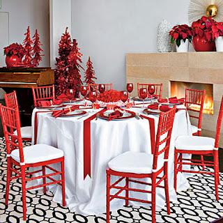 Decoracion de Mesas Navideñas Color Rojo, parte 2