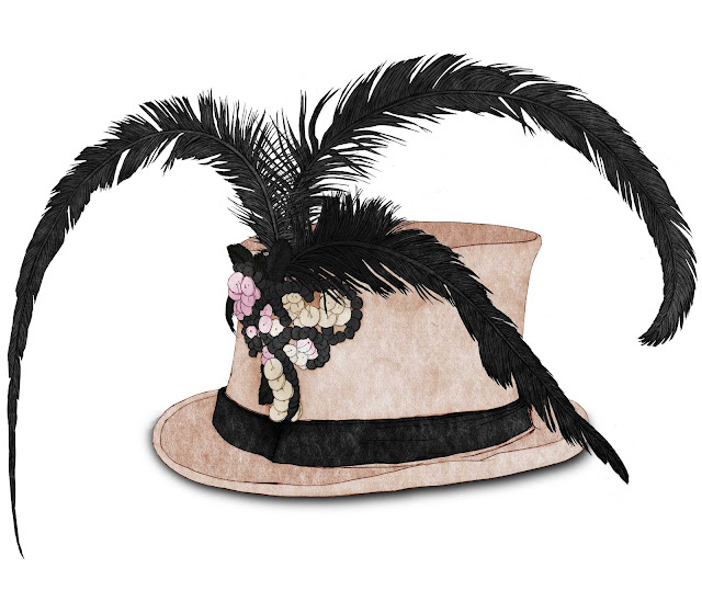 sombrero con tres plumas