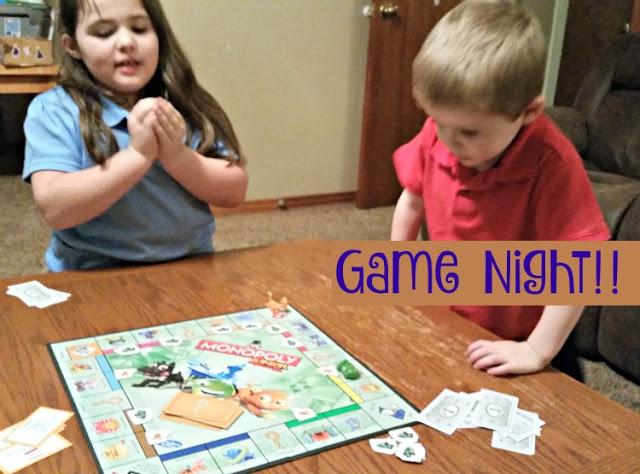 monopoly jr game night