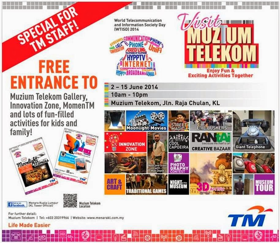 Free Entry to Visit Muzium Telekom Campaign (Enjoy Fun & Exciting Activities Together)