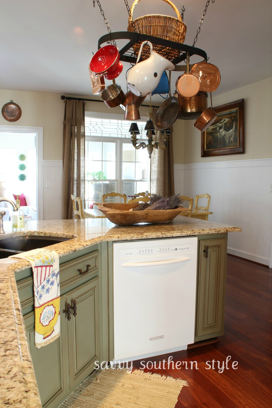 Savvy southern style the kitchen project reveal for Southern style kitchen design