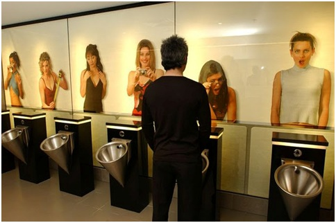 URINAL IN A PUBLIC BATHROOM FOR MEN