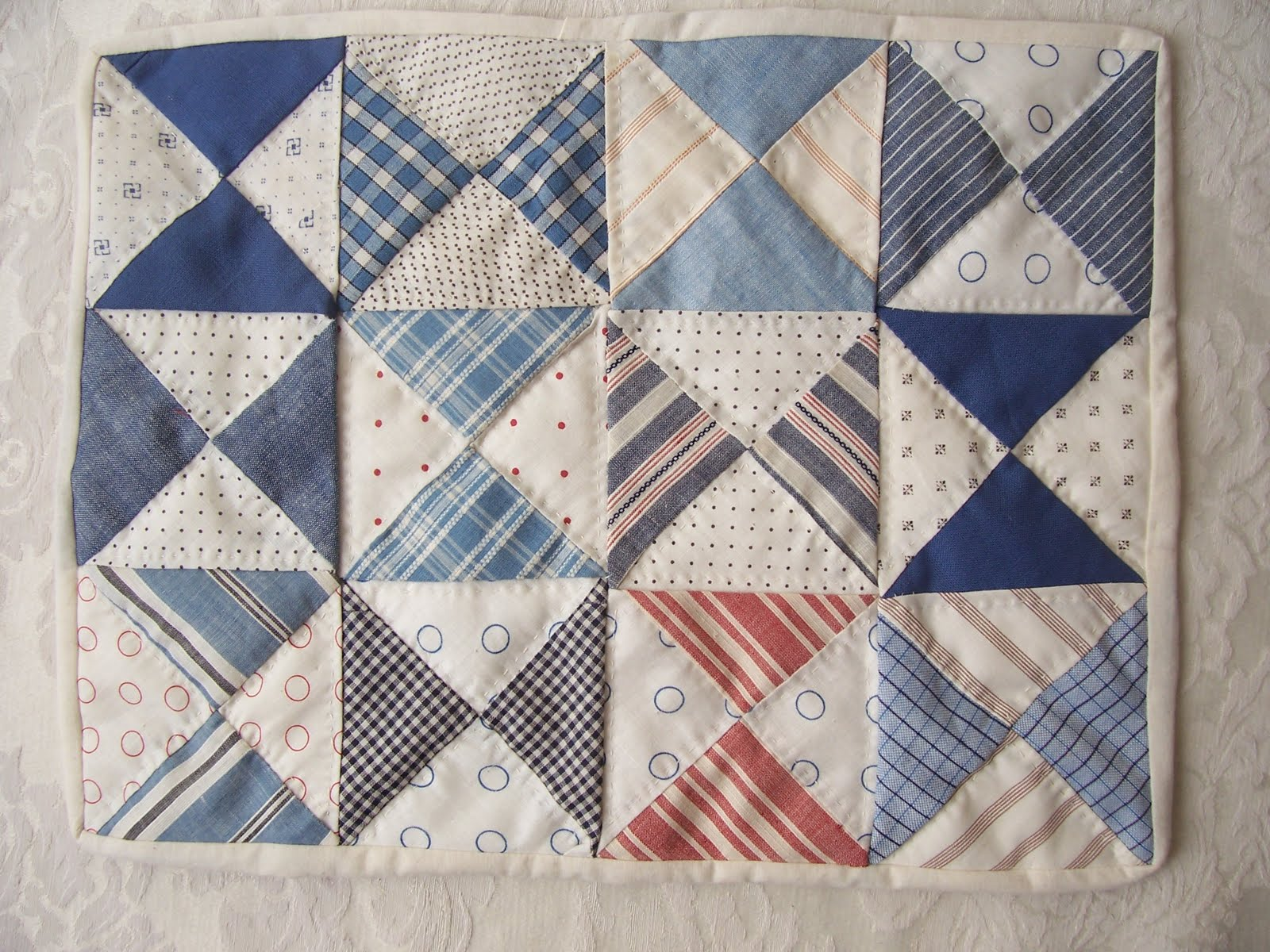 Only Doll Quilts Hourglass Quilt Finished