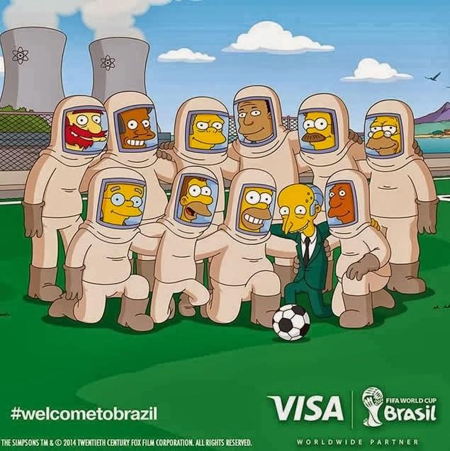 Fusión Digital VE - Publicidad Brasil 2014 Los Simpsons