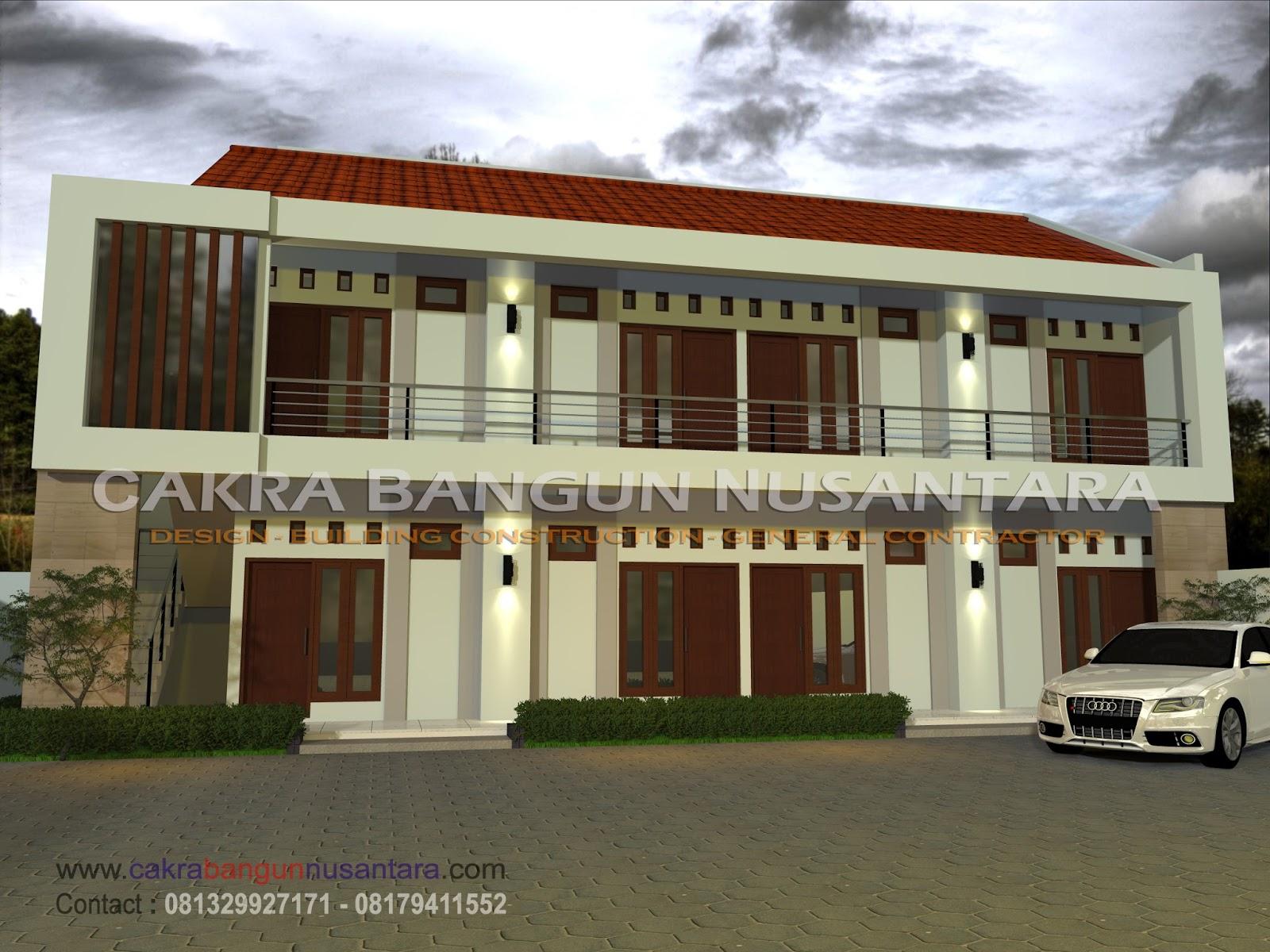 Rumah Kos 2 Lantai. Label: Desain Rumah Kos & Bangun Rumah Yogyakarta Bersama Cakra Bangun Nusantara Arsitek ...