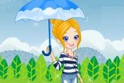 Yağmurda Kız Giydirme Oyunu