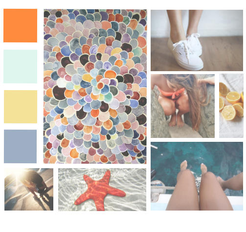 sommer moodboard design webdesign inspiration collage