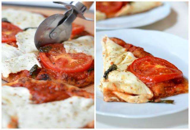 Mozzarella Basil & Tomato Pizza