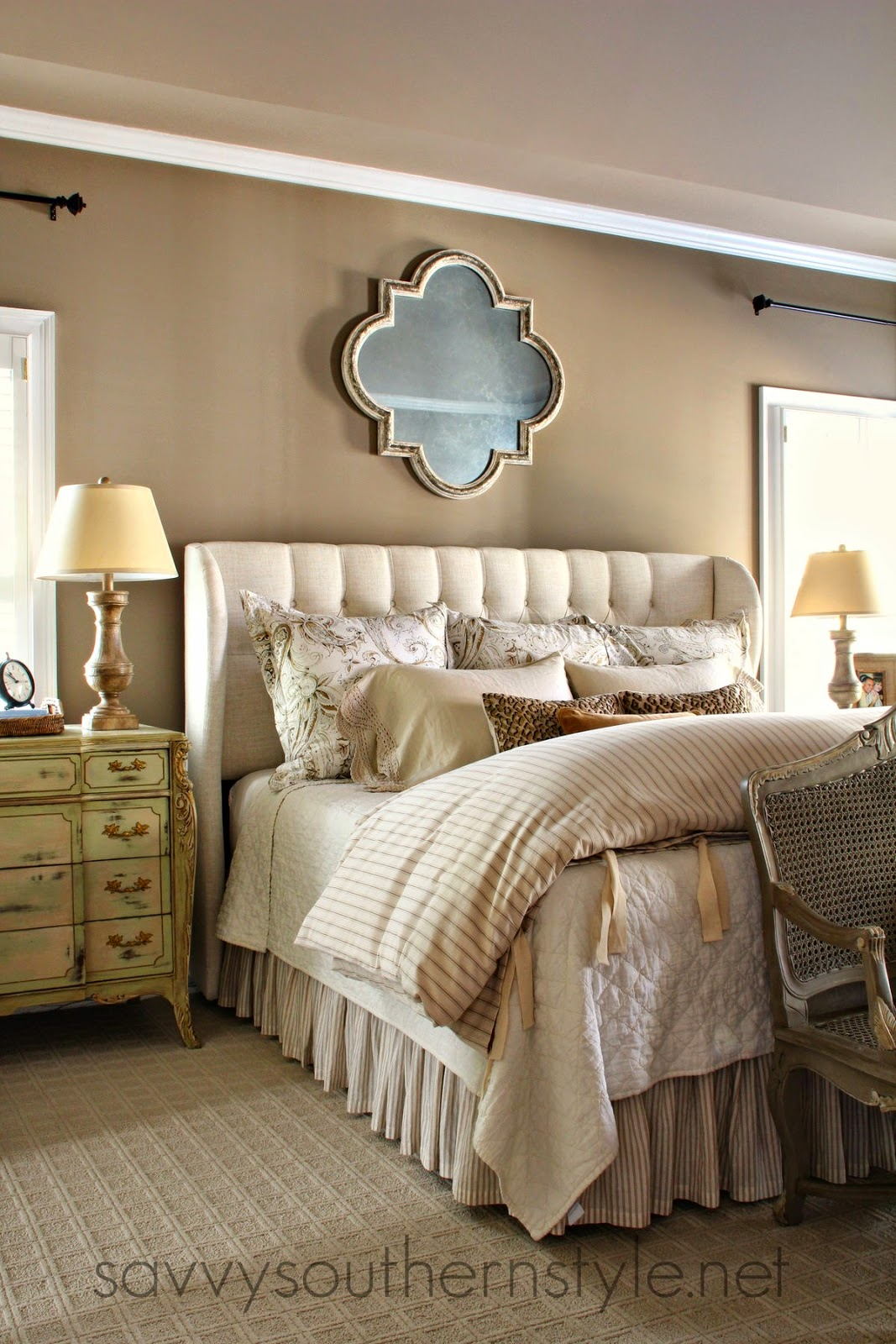 Savvy southern style master bedroom source list for Southern style bedroom