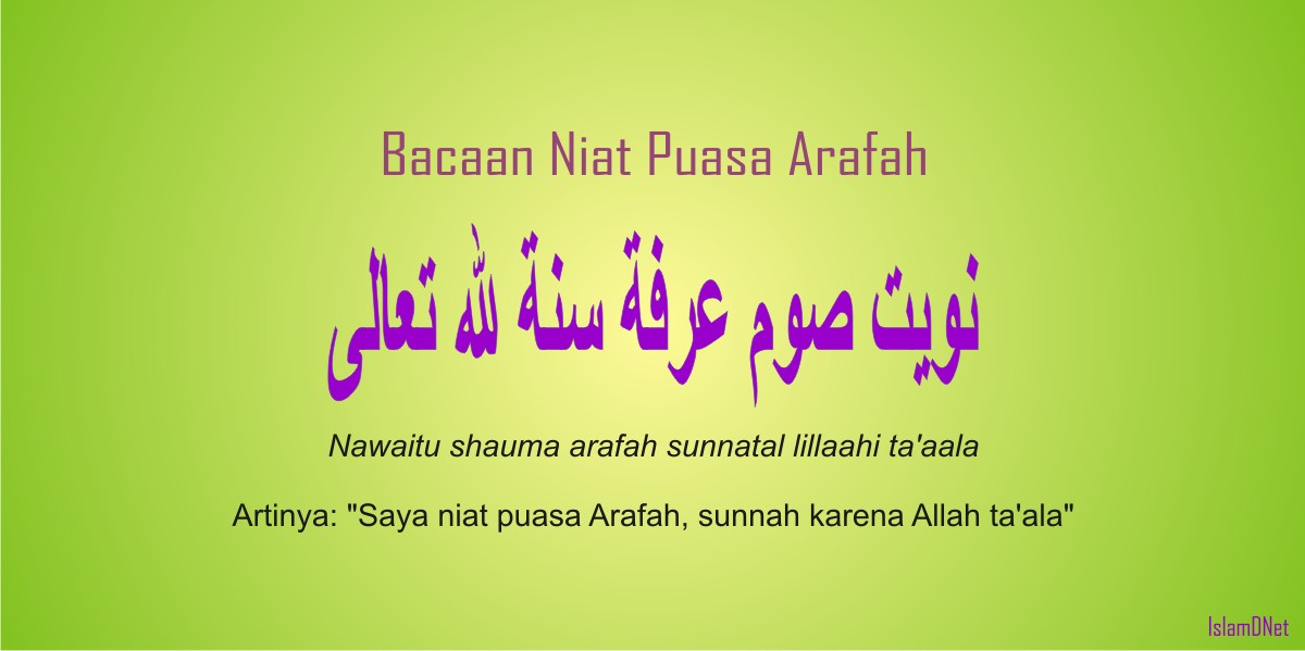 Bacaan Niat Puasa Arafah 9 Dzulhijjah | IslamDNet