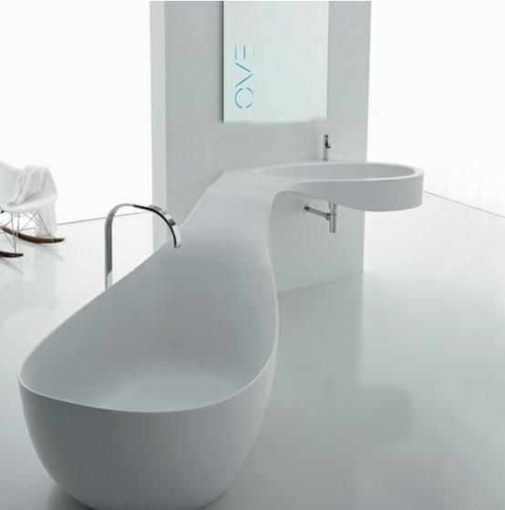 Las fotos mas alucinantes lavabo ultra moderno for Baignoire lavabo integre