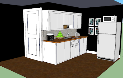mylittlehousedesign.com google sketchup of a kitchen