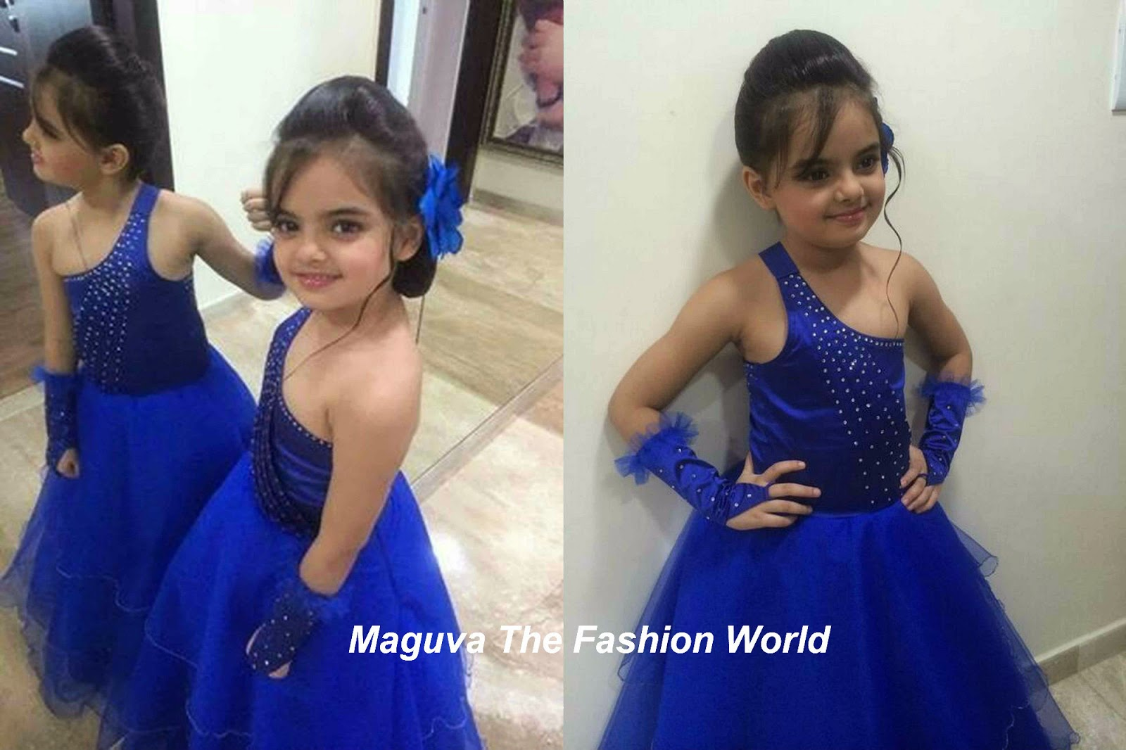 Ruhanika dhawan in bright blue dress maguva the fashion world