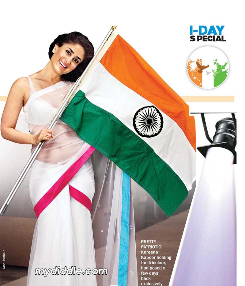 Kareena Kapoor White Saree Independence Day Wallpaper - HOT