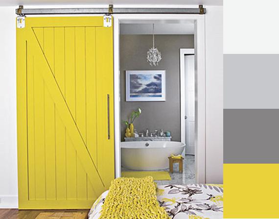 interni in giallo - architettura e design a roma - Arredamento Pareti Gialle
