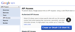 There click the big blue button to connect via oAuth