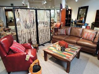 red, Bradington Young, recliner, Berber carpet, pillows, souk, Marrakech, twig screen, Thailand