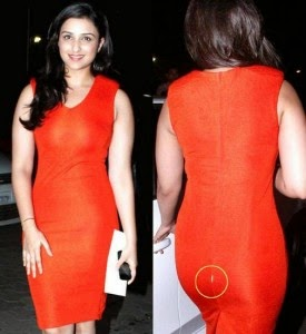 Parineeti Chopra Red Tight Dress Celebrity Wardrobe Malfunctions