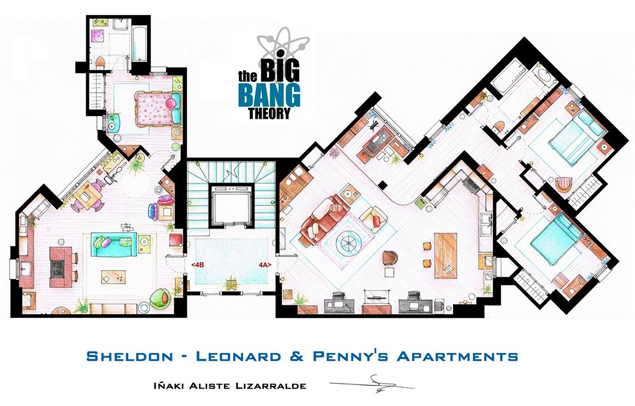 Tastefully Offensive Floor Plans Of Tv 39 S Best Sitcom
