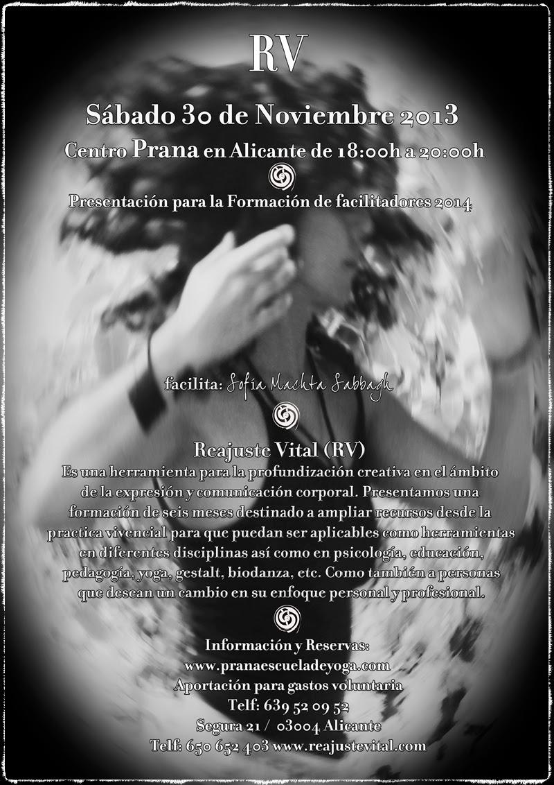 RV Presentación en Prana escuela de yoga en Alicante