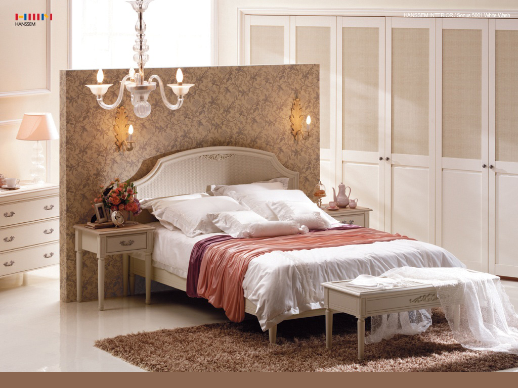 Classic bed designs for Bed wall design