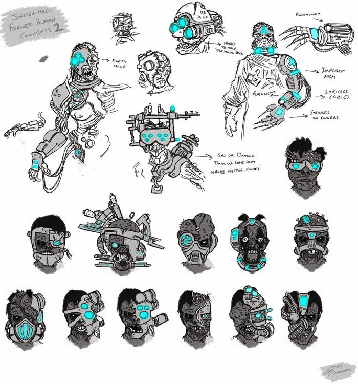 Jupiter hell - flesh machine faces