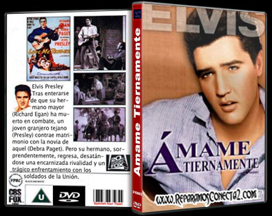 Love Me Tender | 1956 | Ámame tiernamente | Caratula dvd, Cover