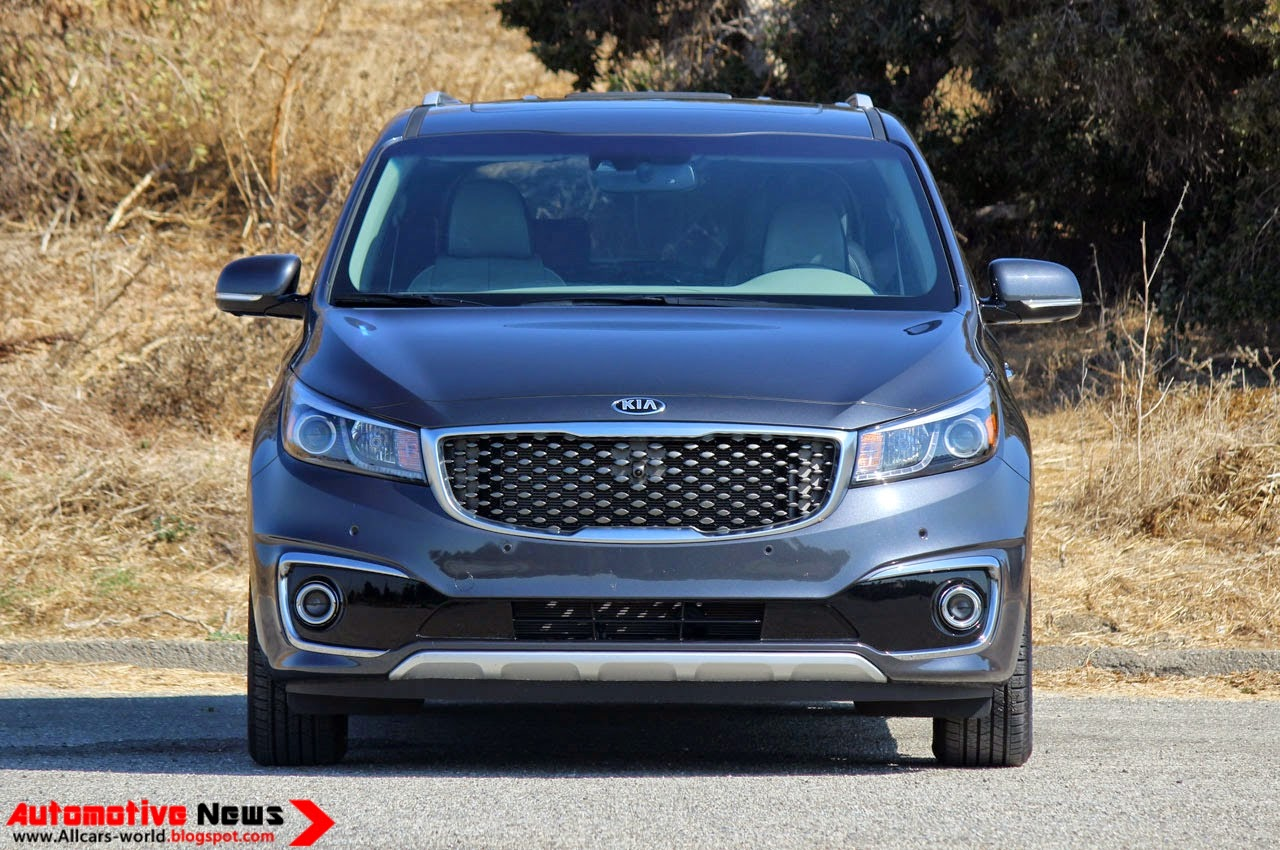 Now this is more like it kia the 2015 sedona now looks like a proper kia complete with the company s now famous tiger nose grille
