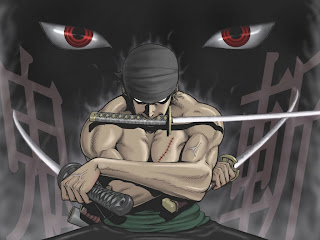 One Piece Roronoa Zoro 3 Sword Style Anime Red Eye HD Wallpaper Desktop Background