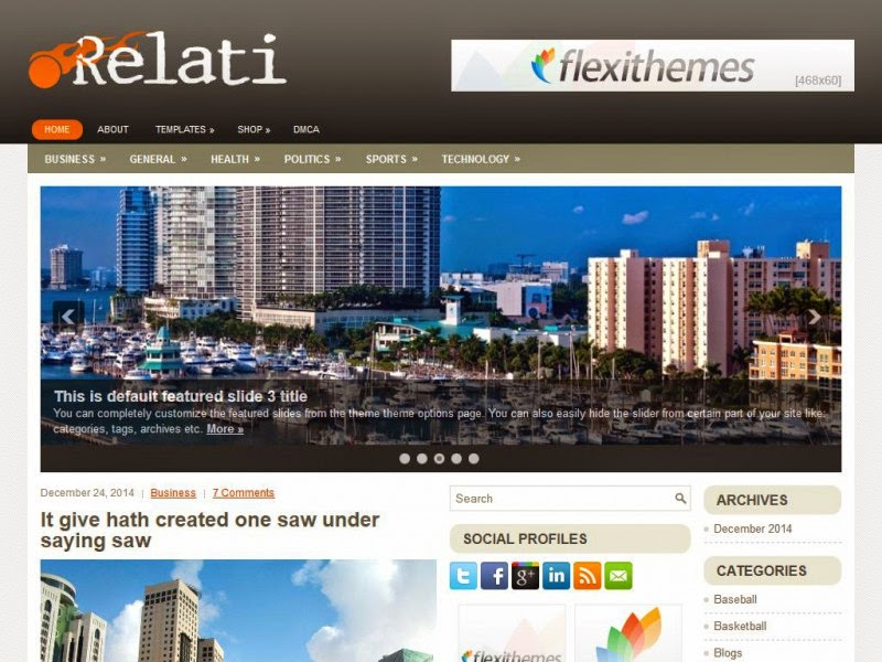 Relati - Free Wordpress Theme