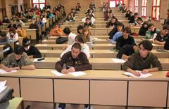 Un examen en la Universidad