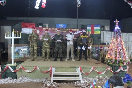 Prajurit TNI Konga XXXVII-B/Minusca Rayakan Natal di Afrika