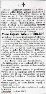Overlijdensbericht uit de Gazette van Brugge van 06-10-1883
