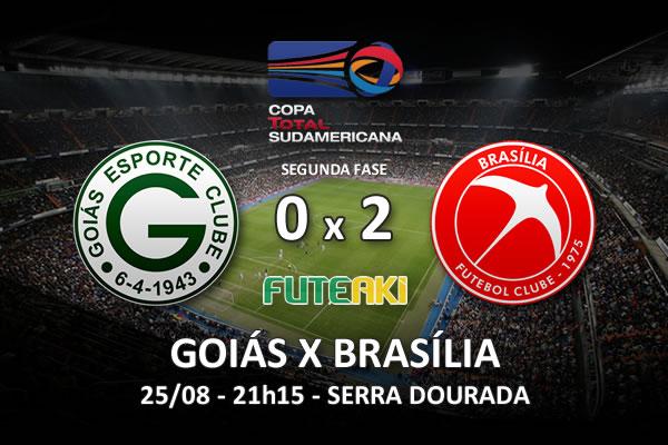 Veja o resumo da partida com os gols e os melhores momentos de Goiás 0x2 Brasília pela segunda fase da Copa Sul-Americana 2015.
