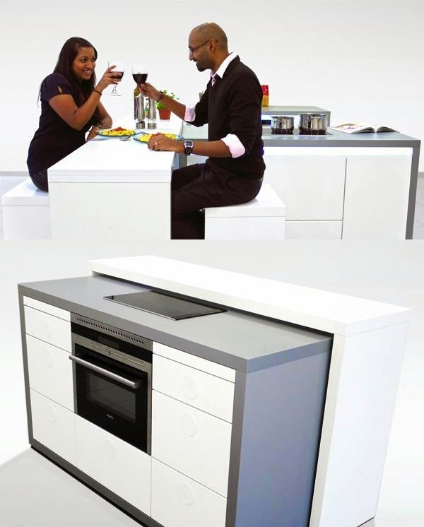 petit espace maison, cuisine design