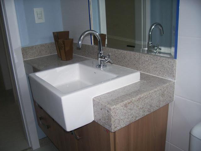 A Casa da Sheila Tons de granito e mármore -> Pia De Banheiro Marmore Branco