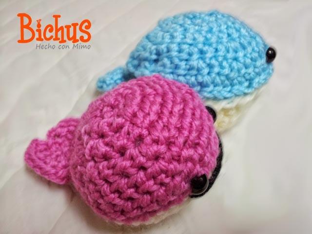 Bichus Amigurumis: Mini Ballenas Amigurumi Patron paso a paso