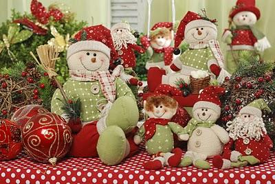 decoração de natal - bonecos de tecido